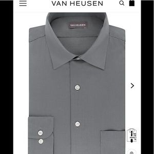 Van Heusen regular fit lux sateen dress shirt.
